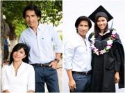 Làng sao - Trang Lạ tình cảm bên chồng Việt kiều khi nhận bằng Thạc sĩ