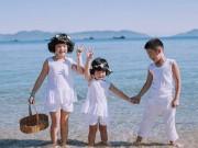 Làm mẹ - Ngắm ba em bé đẹp như thiên thần bên bờ biển Đà Nẵng