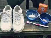 Mẹo làm trắng giày vô cùng đơn giản từ soda