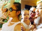 Làng sao - Đoan Trang đưa cô con gái xinh xắn đi thăm chồng ở Ấn Độ