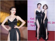 Trà Ngọc Hằng diện váy xẻ táo bạo, gợi cảm bên Milan Phạm
