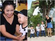 Làng sao - Ốc Thanh Vân hạnh phúc đưa 3 con đi chơi ngày cuối tuần
