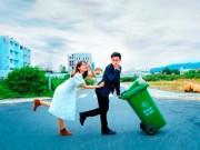 Eva Yêu - Cặp đôi Vũng Tàu chụp ảnh cưới bên thùng rác