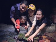 Vợ chồng Kim Hiền đưa hai con đi chơi dịp cuối tuần