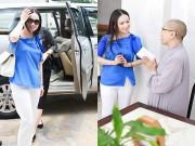 Làng sao - Em gái tỷ phú của Cẩm Ly xúc động khi thăm trẻ em cơ nhỡ