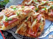 Bếp Eva - Bánh mì nướng thịt nguội hấp dẫn cho bữa sáng
