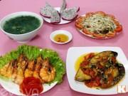 Bếp Eva - Bữa cơm nhiều món hải sản ngon mát cho ngày hè