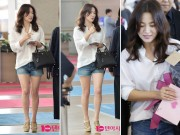 Làng sao - Diện áo sơ mi, quần short, ai bảo Song Hye Kyo là chân ngắn!