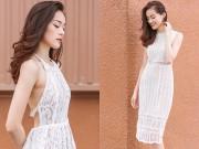 Thời trang - Váy ren trắng mặc vào là hóa thiên thần của bạn gái Cường Đô la
