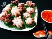 Bếp Eva - Bạch tuộc cuộn hành lá đơn giản mà ngon