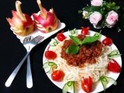 Món ngon nhà mình - Mỳ Ý sốt thịt băm thơm ngon không kém ngoài tiệm - MN52079
