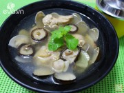 Bếp Eva - Thịt gà nấu nghêu, nấm hương vừa ngon lại bổ dưỡng