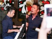 Làng sao - Bằng Kiều đáng yêu đến lạ khi cầm điện thoại hát lại hit của Sơn Tùng