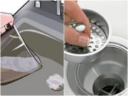 Nhà đẹp - 2 mẹo giá rẻ thông bồn rửa bát ứ nước, bốc mùi