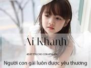 Làm mẹ - Bộ tên đẹp, ý nghĩa hay cho bé gái sinh năm 2016 vần A - K