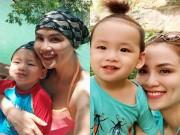 Làng sao - HH Diễm Hương đưa con trai đi khám phá hang Tối tại Quảng Bình
