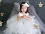 Làm mẹ - 6 chiếc váy trắng ren công chúa dành cho bé gái mặc đi đâu cũng đẹp