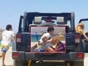 Làng sao - Thêm loạt ảnh Lindsay Lohan bị bạn trai đánh đập trên biển