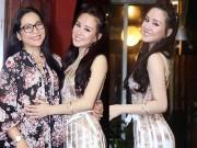 Làng sao - Vy Oanh thân thiết với MC Quỳnh Hương tại đêm nhạc riêng