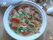 Bếp Eva - Bánh đa thịt gà đủ chất cho bữa sáng