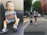 Làng sao - Con trai Ngọc Thạch và chồng thiếu gia càng lớn càng ra dáng hot boy