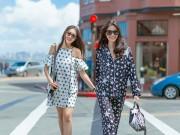 Thời trang - Thuỳ Dung và Lệ Hằng khoe street style tuyệt đẹp ở Mỹ