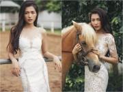 Làng sao - Á hậu Lệ Hằng quyến rũ hút hồn với váy cưới