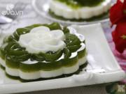 Bếp Eva - Bánh Trung thu rau câu lá dứa sữa tươi