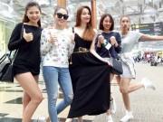 Thời trang - Thời trang đường phố sao Việt: Hà Hồ và gà cưng quậy tưng bừng tại Singapore