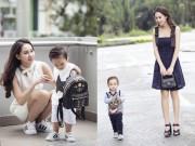 """""""Mẹ đơn thân"""" Thanh Trúc khoe con trai gần 2 tuổi đáng yêu như hot boy"""