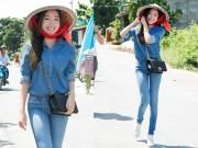 Thời trang - Elly Trần giản dị vẫn đẹp nuột khi đi từ thiện tại miền Tây