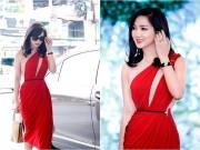 Làng sao - Giáng My diện đầm đỏ, quyến rũ, gợi cảm như tuổi đôi mươi