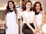 Thời trang - Á hậu Phương Lê diện đầm trắng thanh thoát dự sự kiện