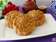 Bếp Eva - Cách làm bánh Trung thu nướng nhân trà xanh cho Rằm tháng 8
