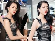 Làng sao - Á hậu Lệ Hằng khoe đường cong với váy ôm sát tại sự kiện
