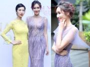 Xuân Lan rạng rỡ đọ sắc bên hoa hậu quý bà Kim Nguyễn