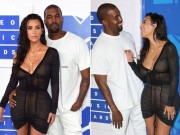 """Làng sao - """"Lác mắt"""" ngắm Kim Kardashian diện đồ xuyên thấu tới MTV Video Music Awards"""