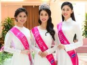 Làng sao - Top 3 Hoa hậu Việt Nam 2016 xinh đẹp xuất hiện sau khi đăng quang