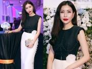 Thời trang Sao - Hoa hậu Nguyễn Lam Cúc quyến rũ với đầm trắng đen thanh lịch