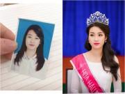 Làng sao - Lộ ảnh thẻ thời học sinh đáng yêu của Hoa hậu Mỹ Linh