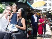 Xem & Đọc - Vợ chồng Đoan Trang khoe con gái trên phim trường
