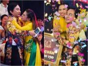 Nghệ sĩ Kim Tử Long rạng rỡ ôm chặt khi con gái nuôi đăng quang