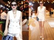 Thời trang - Á hậu Phương Lê chân dài miên man với cây vest ngắn
