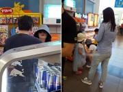 Làng sao - Lộ ảnh hiếm hoi vợ chồng Lee Young Ae đưa các con đi chơi