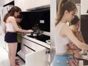 Clip Eva - Video: Ngọc Trinh học mẹ làm bánh xèo vẫn sexy đến khó cưỡng