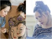 """Sao Việt - Miên Thảo  """" thôi miên """"  người xem bởi nghệ thuật body painting độc đáo"""
