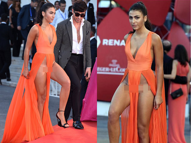 Á hậu Ý bị lên án khi ăn mặc lố lăng trên thảm đỏ LHP Venice 2016