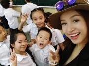 Sao Việt nô nức khoe ảnh đưa con đi khai giảng năm học 2016