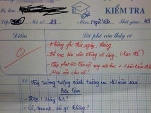 Bật cười trước những bài văn bá đạo của học sinh về trường