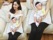 Làng sao - Á hậu Ngô Trà My khoe ảnh con gái tròn một tháng tuổi